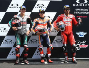 Podio de Petrucci e el MotoGP de Italia 2019