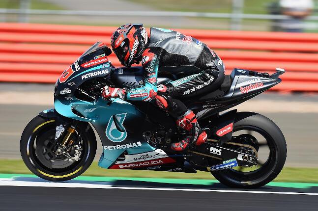 Fabio Quartararo en el MotoGP de Silverstone 2019