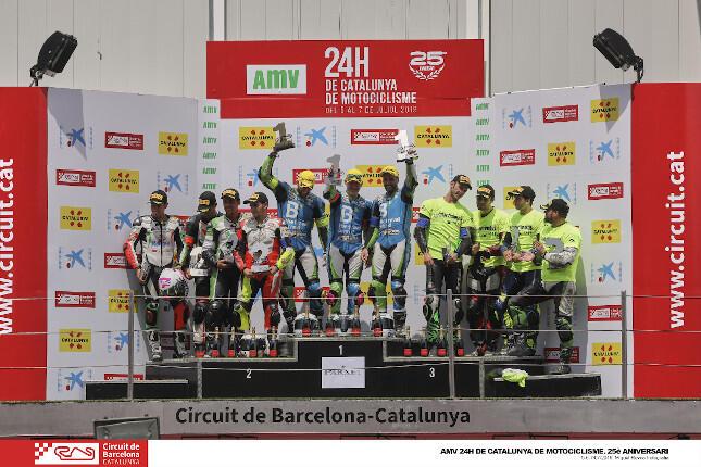 Podio AMV 24 Horas de Catalunya de Motociclismo
