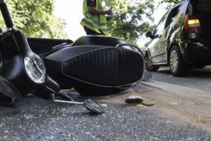 accidente de scooter