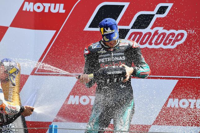 MotoGP de Assen: podio de Quartararo