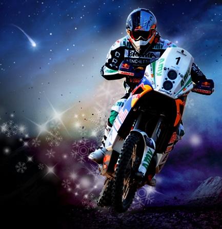 motocross AMV con fondo navideño