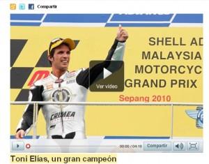 Toni Elías en el Mundial de Moto2