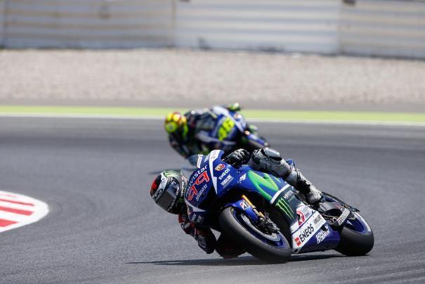 Jorge Lorenzo, durante el transcurso de la carrera en el circuito de Montmeló. | Web MotoGP