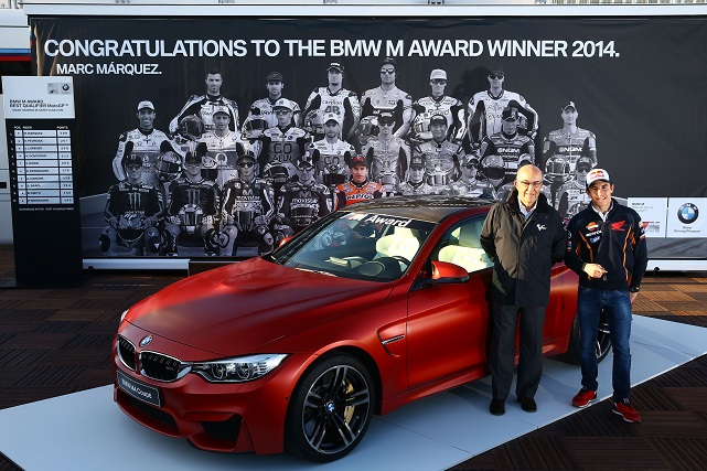 Acto de entrega del BMW M4 Coupé a Marc Márquez
