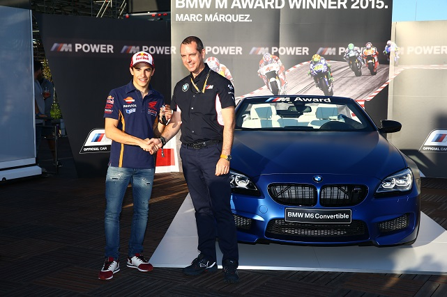 Acto de entrega del BMW M6 Convertible a Marc Márquez