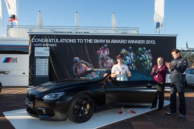 Acto de entrega del BMW M6 Coupé a Marc Márquez