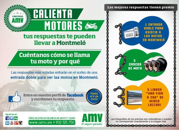 Creatividad Concurso Facebook AMV para ganar una entrada doble al GP de Catalunya