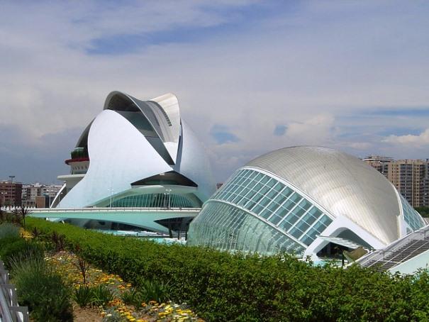 Preciosas vistas de la ciudad de Valencia.