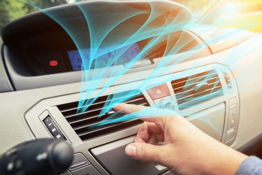 rejilla del aire de acondicionado del coche