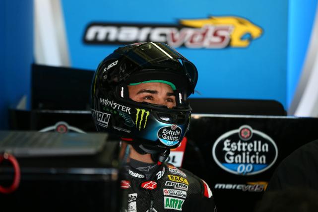 Aron Canet en los test de Valencia 2018, antes del MotoGP de Qatar