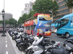Bolardos seguros para motos