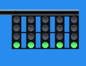 semáforos de un circuito encendidos en verde