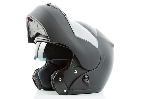 casco negro modular