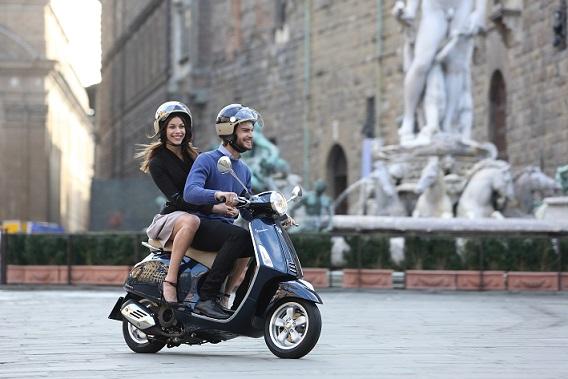 Conducción de un ciclomotor por ciudad