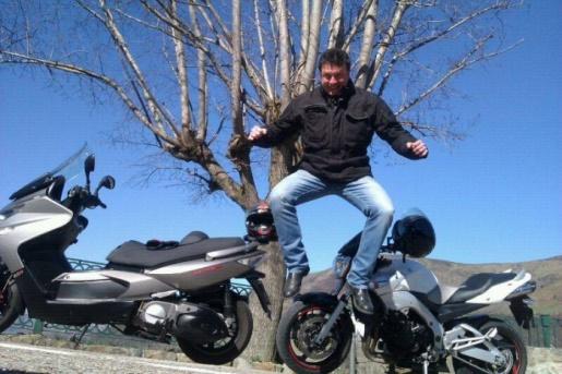 Diversión sobre la moto
