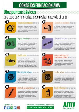 Consejos fundacion amv seguros- como revisar moto antes de circular
