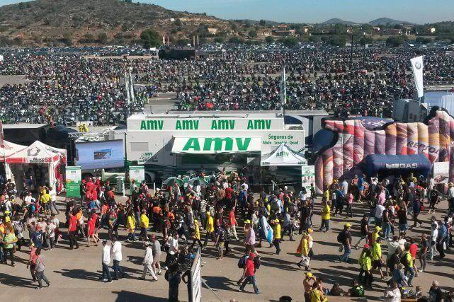 El camión de AMV en el GP de Valencia 2015