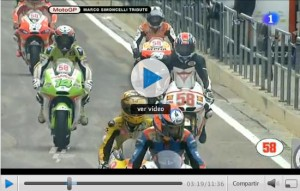 Homenaje GP Valencia- Marco Simoncelli