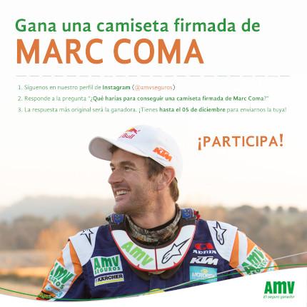 Concurso AMV en Instagram para ganar una camiseta firmada por el piloto Marc Coma