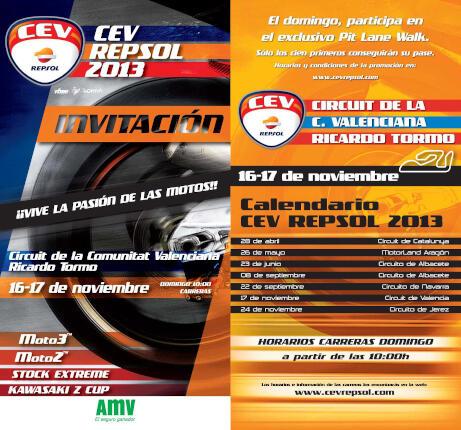 Invitación AMV CEV Repsol Valencia