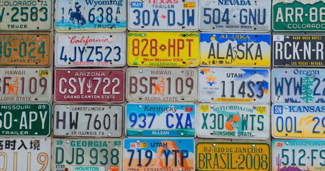 Imagen de matrículas de vehículos americanos