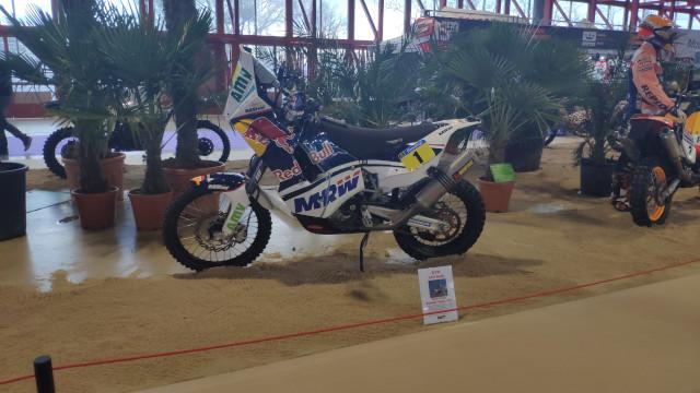 La moto KTM 450 Rally de Marc Coma expuesta en el Motorama Madrid 2020