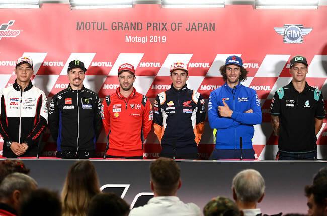 Rueda de prensa de los pilotos de MotoGP en Japón