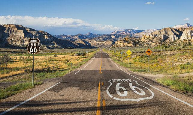 Paisaje de la mítica ruta 66 de Estados Unidos