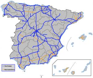 red carreteras espana