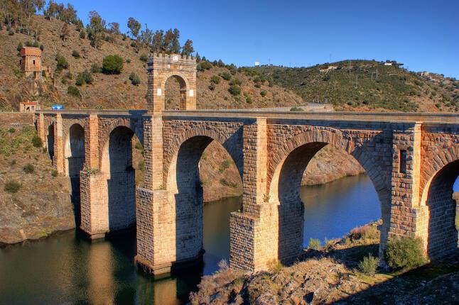Rutas en Moto por Extremadura. Puente Romano de Alcántara .