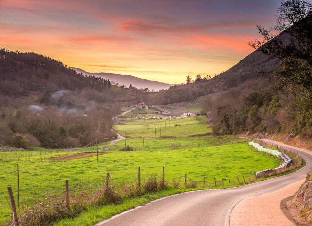 Paisaje rural en el País Vasco