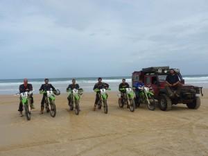 Viaje en moto por el desierto